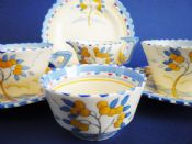 Rare Burleigh Ware 'Lemon Tree' Zenith Breakfast Set c1930